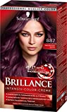 Schwarzkopf Brillance Intensiv-Color-Creme, 887 Mahagoni Satin Stufe 3, 3er Pack (3 x 143 ml)
