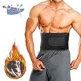 Bauchweggürtel,CAMTOA Multifunktional Fitness Gürtel, Einstellbare Bauchgürtel für Damen und Herren, Verstellbarer Schwitzgürtel, Schnell & Einfach Abnehmen mit dem Gewichthebergürtel, Lendenwirbelstütze Ideal für Laufen, Gym, Training und Alltag Sport