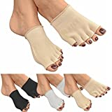 GreatIdeas™ GEL Open Five Toe Socks - Cushion Your Feet - Moisturising to Avoid Dry Skin - Heal Athlete's Foot by Separating Toes