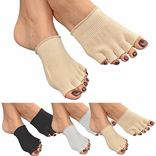 GreatIdeas™ GEL Open Five Toe Socks – Cushion Your Feet – Moisturising to Avoid Dry Skin – Heal Athlete's Foot by Separating Toes