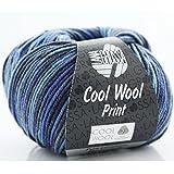 Cool Wool Print * Merino Wolle Cool Wool Print Lana Grossa in Meeresküste (Fb 716) * 1 Knäuel Wolle bunt + GRATIS MyOma-Label - Nadelstärke 3-3,5 mm - 50g/160m - 100% Merinowolle – Lana Grossa Wolle