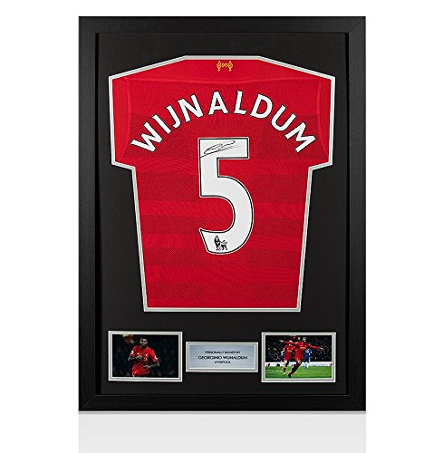 Framed-Georginio-Wijnaldum-Signed-Liverpool-Shirt-Number-5-2016-2017