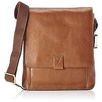 Hidesign Aiden 02 Medium Messenger Bag for Men - Genuine Leather, Tan