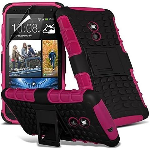 HTC Desire 610 Super calidad plàstico con atril + lápiz + Protector de pantalla Gadget Giant (a prueba de golpes - rebajándose - cubierta - duro - altillano - resistente), compatible con HTC Desire/HTC Desire