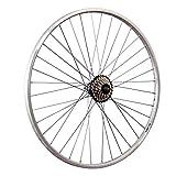 Taylor-Wheels 28 Zoll Hinterrad YAK19 mit 7 Fach Shimano Schraubkranz - Silber