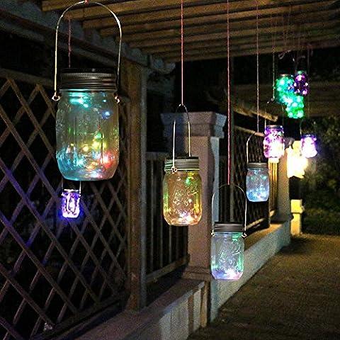 Expower 3 Pcs Couvercle de Bocal Solaire avec Guirlande LED