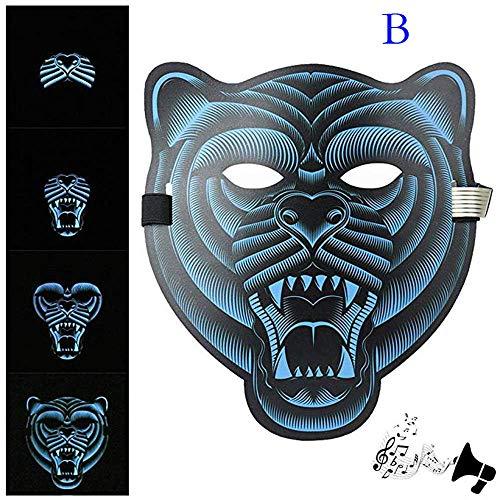 huichang Sound Reaktive LED Maske, Maskerade Maske Halloween Kostüme Venezianischen Partei Maske ()