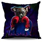 Boxer Tier Komisch Hund Leinen Kissen 60cm x 60cm| Wellcoda