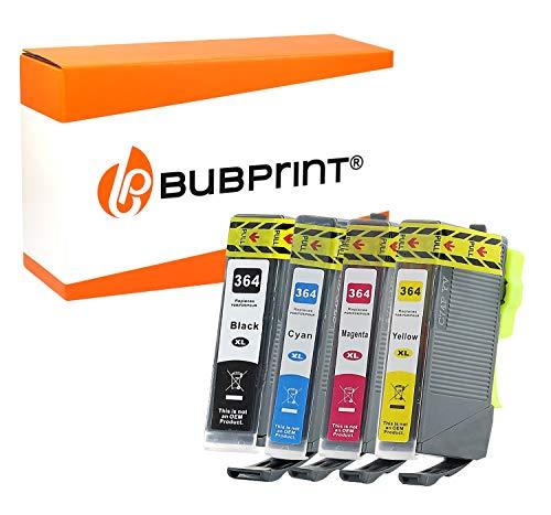 4 Bubprint Druckerpatronen kompatibel für HP 364-XL für Photosmart 5520 6520 5510 5524 7520 7510 DeskJet 3520 OfficeJet 4620 4622 6500a 200 Multipack