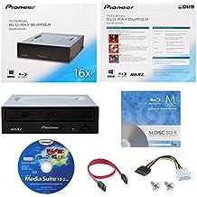 Pioneer BDR-2209 16X interna Blu-ray BDXL DVD CD Burner Drive escritor en caja al por menor con 1pk GRATIS MDisc BD + Media Suite Cyberlink Software + Cables y tornillos de montaje
