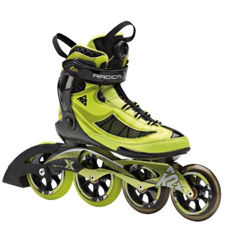 K2 Herren Inline Skate RADICAL X BOA, Grün/Schwarz, EU 42.5 (US 9.5), 3040005.1.1.095