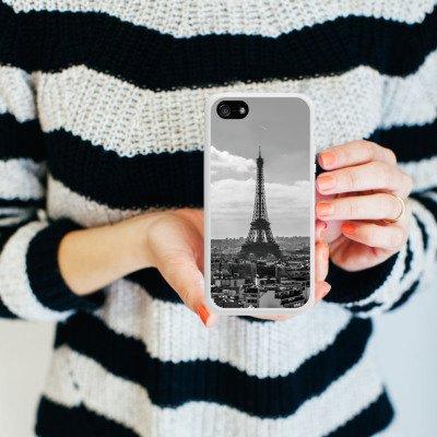 Apple iPhone 5s Housse étui coque protection Paris France Tour Eiffel Housse en silicone blanc