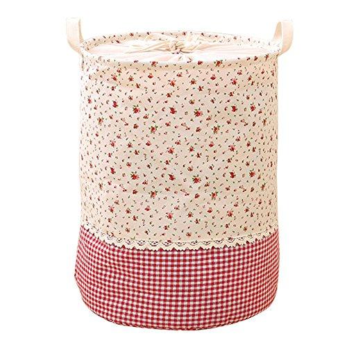 hangnuo pieghevole cotone e lino cesto biancheria cesto giocattoli pop-up Organizer Bins Florals