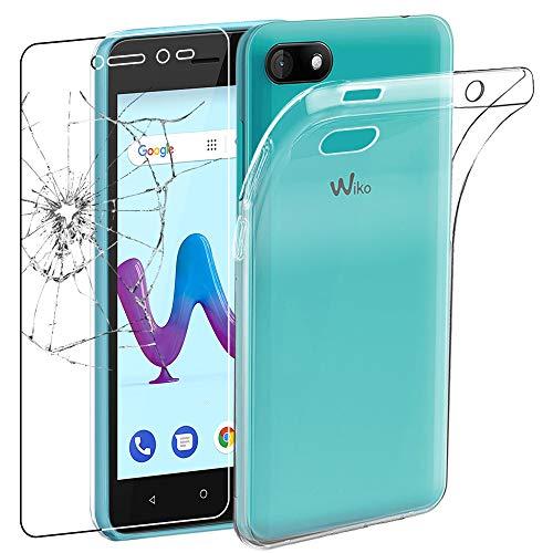 ebestStar - Wiko Sunny 3 Hülle Sunny3 Handyhülle [Ultra Dünn], Premium Durchsichtige Klar TPU Schutzhülle, Soft Flex Silikon, Transparent + Panzerglas Schutzfolie [Phone: 146.7 x 74 x 9.95mm, 5.0'']