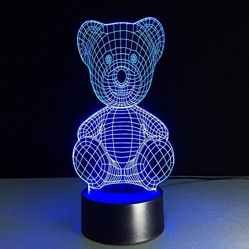 Cartoon Nettes Baby Bär Lampe 3D USB LED Tisch Nachtlicht Schlafzimmer Nachttisch Dekor Kinder Spielzeug Freundin Geschenk Baby Schlaf Leuchte