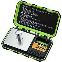 LAUERTHGB Básculas 200 g x 0.01 g Balanzas digitales de mini precisión para la joyería de plata