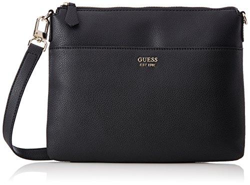 Bags Hobo, Womens Cross-Body Bag, Black (Black Denim), 10x18x28 cm (W x H L) Guess