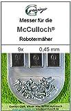 9 Messer Ersatzmesser Ersatz-Klingen 0,45mm für McCulloch Rob R600 R1000 Mc Culloch