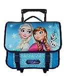 Cartable A roulettes 38Cm Bleu-La Reine des Neiges/Frozen Disney