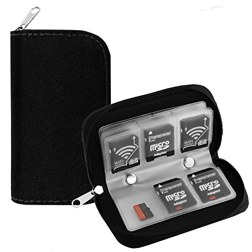 Memory Card Holder illios™ 24 Slot SD SDHC Micro SD Cards Carrying Cases & Sleeves Bags Media Storage & Organization