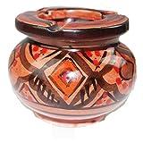 Simandra Marokkanischer Sturmaschenbecher Aschenbecher Keramik Windascher Ascher Orient Deko Klein Color Rot