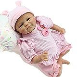 ZIYIUI 18Zoll 45cm Reborn Babypuppe Neugeborene Babypuppe Weiches Silikon Vinyl Realistische Puppe Realistische Taktilität