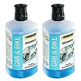Karcher Shampooing nettoyant pour voiture 3en 1, Pour nettoyeur haute pression, K2K4K5K7,Lot de 2 x 1l