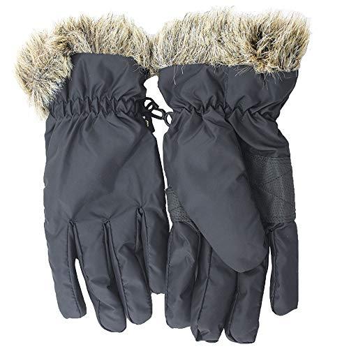 SCSY-Handschuhe und Fäustlinge Winddichte Handschuhe Skihandschuhe wasserdichte wärmste Winter Schneehandschuhe für Damen/Mädchen/Kinder (Color : Blue) Warmest Mitt