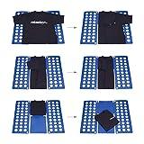 Relaxdays Faltbrett für Wäsche HBT ca. 0,5 x 70,5 x 59 cm mit Falt Butler Kleidung auf DIN A4 falten große Falthilfe platzsparender Wäschefalter Hemdenfalter, blau - 3
