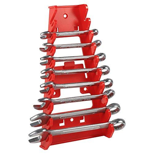 Schraubenschlüsselhalter,Tragbare Wrench Organizer, 9 Slot Red Kunststoff Schraubenschlüssel Rack Organizer Halter Storage Tool Wrenches Keeper