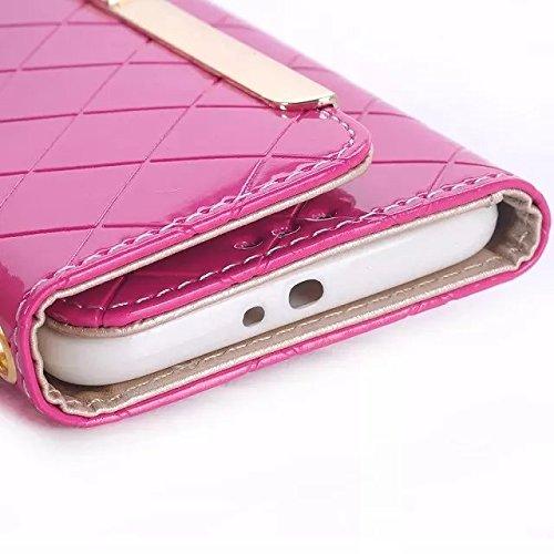 Samsung Galaxy S6 Case,umhängetasche Style Magnetische Strass Schnalle Lederetui Mit Card Slots Für Samsung S6 ( Color : 6 , Size : Samsung S6 ) 6
