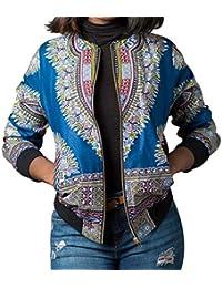 e240068d9b Chaqueta Mujer Primavera Otoño Vintage Cortos Ropa Cazadoras con Cremallera  Manga Largo Relaxed Casual Fashion Abrigos