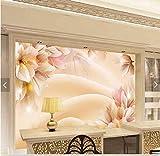 Whian 3D Papel Pintado Mural Decoración Sala De Estar Dormitorio Flores De Ensueño Pintando Escenario De Tv La Imagen Etiqueta De La Pared 300Cmx240Cm|118.11(In) X94.48(In)