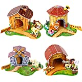 Party Propz Super Cute Pet House 3D Puzzle Set Of 4 For Exclusive Birthday Return Gifts
