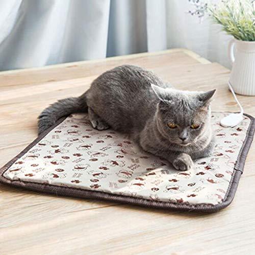 Zzaini Pet Elektrisch Heizung Pad Wasserdichte Heizung Pet Matratze Pad Erwärmung Weich Leichte Kuscheldecke Mat Für Hunde und Katzen-B 45x45cm(18x18inch) - Pet-erwärmung Pad