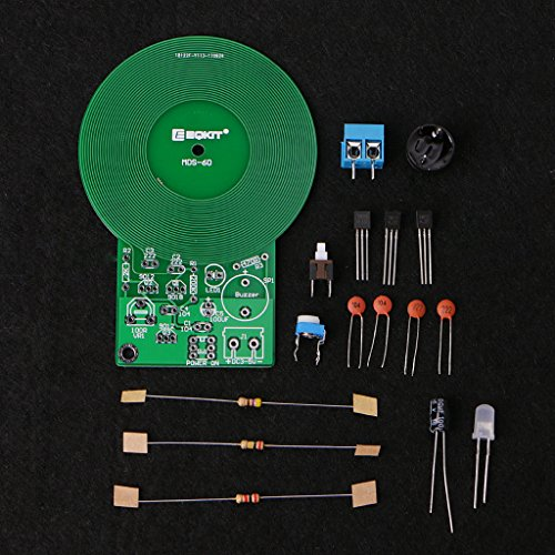 BIlinli Metalldetektor Kit DC 3V-5V 60mm Berührungslose Elektronik Kit Sensor Board DIY Kit