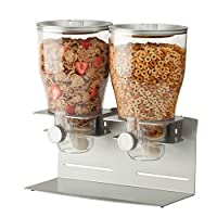 Each dispenser Holds 17,5Ounces of Dry Food and is Airtight and Able to Preserve Freshness for up to 45Days; it features a Contemporary Metallic, powder-coated Steel Design, garantendo un durevole, stain-resistant superficie that is a match...