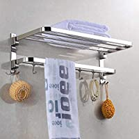 Plantex New Look Stainless Steel 304 Grade Dual Folding Towel Rack for Bathroom/Towel Stand/Hanger/Bathroom Accessories…