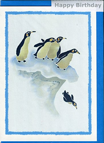 splish-splash-penguins-from-an-original-silk-painting-by-hazel-burrows-birthday-greeting-card