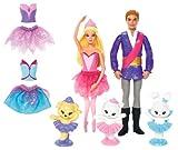 Barbie X8833 - Die verzauberten Ballettschuhe Mini Spielset in Geschenktasche (28 x 28 x5,5 cm)
