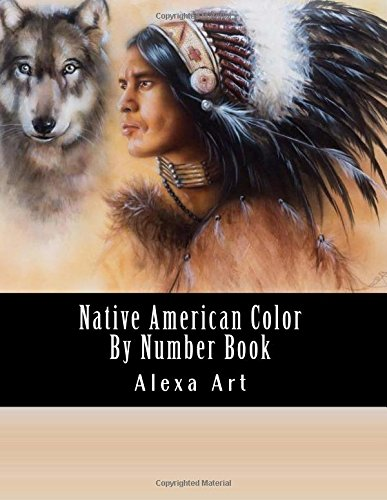 Native American Color By Number Book: Native American Indian Designs Including Eagles, Feathers, Native American, Dream Catchers (Color By Number For Adults) (Eagle Native)