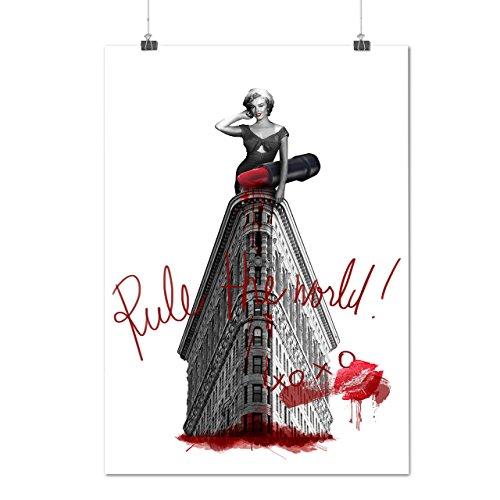 Frau Stilvoll NYC Mode Dame Stadt Mattes/Glänzende Plakat A3 (42cm x 30cm)   (Perücken Kostüm Nyc)