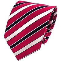 TigerTie Cravatta in seta - sanguigno nero argento bianco striato - Cravatta 100% seta