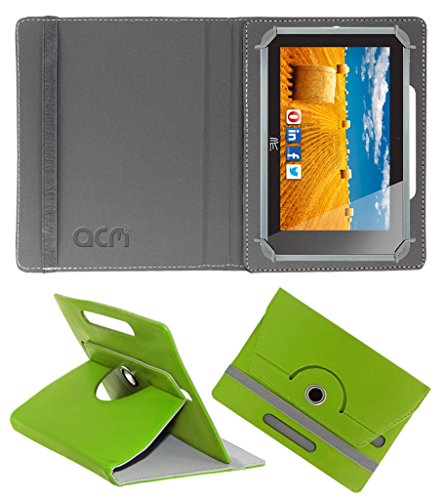 Acm Rotating 360° Leather Flip Case for Hcl Me Connect 3g 2.0 Y4 Cover Stand Green  available at amazon for Rs.149