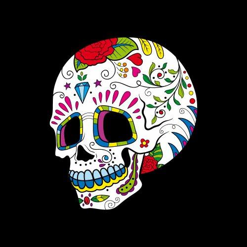 Sugar Skull 41 - Totenkopf-T-Shirt - Damen Schwarz