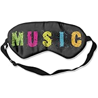 Comfortable Sleep Eyes Masks Music Logo Pattern Sleeping Mask For Travelling, Night Noon Nap, Mediation Or Yoga preisvergleich bei billige-tabletten.eu