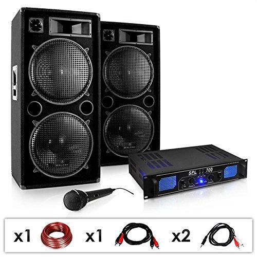 DJ-26 Sonido profesional 2000W amplificador PA, altavoces, micrófono