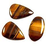 Gems&JewelsHub 94.60 - Juego de 3 cabujones sueltos de ojo de tigre africano