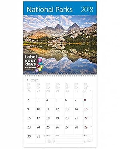 CA09-17 Kalpa pallo Calendrier mural 2017 parcs nationaux Exclusive Collection Calendrier mural 30 x 30