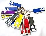Erosion Lot de 12 mini porte-clés lampe de poche avec anneau de clés, minces...